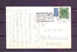 Deutsche Bundespost - Olympiaort  - Heilklimatischer Kurort - Garmisch Partenkirchen  22/7/51 (RM7446) - Other
