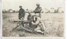 ARMEE BELGE / BELGISCH LEGER MACHINEGEWEER / MITRAILLEUSE 1930 FOTO 10.8CM * 6.4CM - Equipment