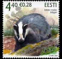 Estonia 2007 Set - Estonian Fauna - The Badger - Estonie