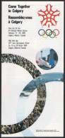 CANADA - OLYMPIC WINTER GAMES CALGARY 1988 - ADVERTISING DEPLIANT - COME TOGETHER IN CALGARY - Olympische Spelen