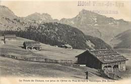 Dept Div- Haute Savoie - Ref W244 -  La Pointe De Chalune - Vue Prise Du Praz De Lys - Hotel S. Tanninges - - Francia
