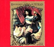 CIAD  - TCHAD - 1971-1973 - Ritratti - Portraits  - Louis XIII Of France And Navarre, Di Vouet - 250 - Scott 233 H - Tchad (1960-...)