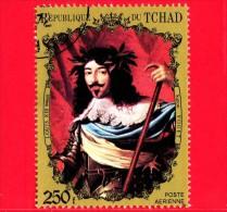 CIAD  - TCHAD - 1971-1973 - Ritratti - Portraits  - Louis XIII, Di Vouet - 250 - Scott 233 H - Tchad (1960-...)