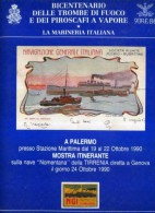 BICENTENARIO DELLE TROMBE DI FUOCO E DEI PIROSCAFI A VAPORE MOSTRA ITINERANTE STORIA POSTALE  44 PAGINE + COPERTINA - Italia