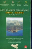 X CARTA DEI SENTIERI E DEL PAESAGGIO CEFALU' MADONIE 1:50000 TAVOLA V 30 SENTIERI NEL PARCO DELLE MADONIE - Mappe