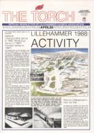 NORWAY LILLEHAMMER 1986 - XVII OLYMPIC WINTER GAMES LILLEHAHAMMER ´94 - THE TORCH - NEWLETTER APRIL 1988 - Boeken