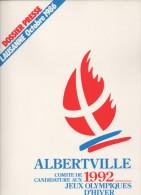 FRANCE 1986 - OLYMPIC WINTER GAMES ALBERTVILLE ´92 - DOSSIER PRESSE LAUSANNE 1986 - ALBERTVILLE CANDIDATURE - Books