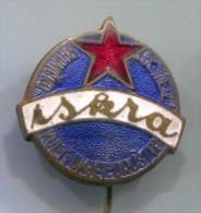 ISKRA - Zenica, Bosnia and Herzegovina, RKUD, enamel, vintage pin, badge