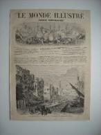 GRAVURE 1862. ALGERIE. TRAVAUX EXECUTES A ALGER POUR LA CONSTRUCTION DU BOULEVARD DE L'IMPERATRICE.......... - Prints & Engravings
