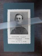 Neder Over Heembeek SCHOUPPE J*Soldaat 4e REG Artillerie*1914-1918 /knipsel Coupure 1935 /WO I/Belgian Soldier World War - War 1914-18