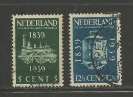 Ned 1939 Spoorwegen Serie Used #195 - Period 1891-1948 (Wilhelmina)