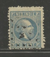 NEDERLANDS INDIE 1870 Used Stamp(s) Willem III 20 Cent Ultramarin Nr. 12 - Netherlands Indies