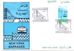 EGYPT  1995  FDC Esna Dam - Égypte