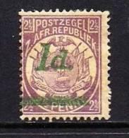ZUID AFRIKAANSE REPUBLIEK 1895 Mint Hinged Stamp(s) 1d Green On 2 1/2 D Mauve Round Dot Saccnr. 220 - Zuid-Afrika (...-1961)