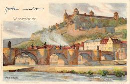 [DC5035] CARTOLINA - GERMANIA - WUERZBURG MARIENBERG - Viaggiata - Old Postcard - Wuerzburg