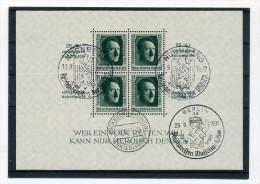 1937 3. Reich Reichsparteitag Nürnberg Block Bl. 11  Mit Verschiedenen SST - Deutschland