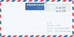 France 2001 Montpellier ATM EMA Double Currency Cover - 2000 «Avions En Papier»