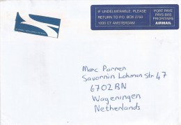 Netherlands Nederland 1998 From Post Net The Bridge RSA South Africa Return Label Private Postal Company Cover - Period 1980-... (Beatrix)