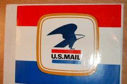 Vintage 70's Big US MAIL Decal Sticker - Autocollants