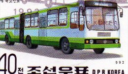 L -  1992 Corea Del Nord - Autobus - Bus