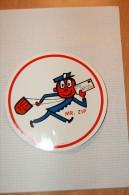 Vintage 1963 US MAIL Zip Code Decal Sticker - Autocollants