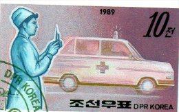 L -  1989 Corea Del Nord - Auto Medica - Bus