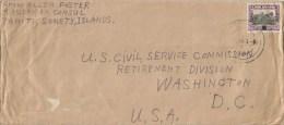 Cook Islands 1944 Rarotonga Overprinted Stamp From American Consul Tahiti To USA Cover - Cookeilanden