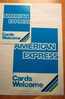 Vintage 70's AMERICAN  EXPRESS  Decals Stickers - Autocollants