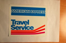 Vintage 1975 AMERICAN EXPRESS Travel Service Decal Sticker - Autocollants