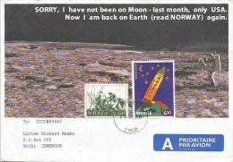 Norway 2000 Tolvsrod Space Rocket Moon Drawing Cover - Brieven & Documenten
