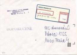 Czech Republic 1995 Praha Post Office Meter Franking Label EMA Domestic Cover - Tsjechië
