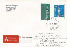 Latvia 1998 Riga Monuments Postal Stationary PAP Cover - Letland