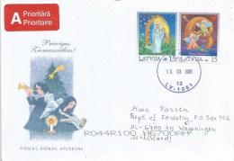 Latvia 2001 Riga Christmas Angles Cover - Letland