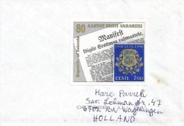 Estonia 1998 Tallinn Independence Newspaper MS Lion Cover - Estland