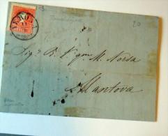 Österreich - Lombardei Und Venetien - Brief    /  VERONA   Nach MANTOVA 5 SOLDI - Storia Postale