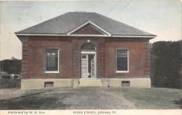 19548 VT  Johnson, Public Library - United States