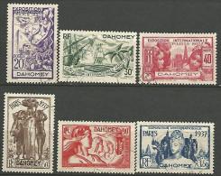 DAHOMEY EXPO 1937 N� 103/108 OBL TTB