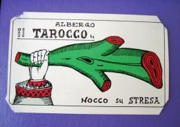 HOTEL ALBERGO MOTEL PENSIONE NO NAME TAROCCO STRESSA ITALIA ITALY STICKER DECAL LUGGAGE LABEL ETIQUETTE AUFKLEBER - Adesivi Di Alberghi