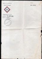 PAPIER A ENTETE: FRONT DE L'ATLANTIQUE, SECTEUR DE SAINT NAZAIRE, CACHET D'ENREGISTREMENT DE GUERANDE, 11 MAI 1945 - 1939-45