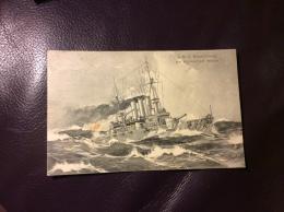 Kaiserliche Marine Postkarte SMS Braunschweig Postkarte Original 1909 - Other