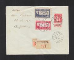 Lettre 1933 Tourcoing Pour La Suisse - 1921-1960: Periodo Moderno