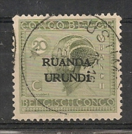 RUANDA URUNDI 53 USUMBURA * ( Cachet Avec 1 étoile ) - 1916-22: Mint/hinged