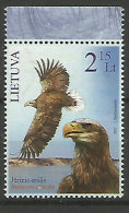 Aigle Pyguargue à Queue Blanche. Un T-p Neuf ** . Faune De LITUANIE - Eagles & Birds Of Prey