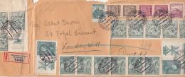 1938. EXEPTIONNELLE LETTRE (DEVANT PLIURE) TCHECOSLOVAQUIE. 27 TIMBRES. RECOMMANDE MARIANSKE LAZNE-LONDON/ 2524 - Czechoslovakia