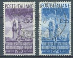 ITALIA - 1950 - USED/OBLIT  - RADIODIFFUSIONE FIRENZE - Yv 561 562  Sa S. 142 623 624 - Lot 10468
