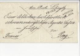 10688 - Lettre Franco De Wodnian Pour Prague - Bohême & Moravie