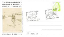 R 726. Tarjeta  Exposicion LLOSETA (Mallorca) 2001. Ciclismo - Ciclismo