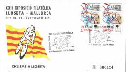 R 727. Carta  Exposicion LLOSETA (Mallorca) 2001. Ciclismo - Ciclismo