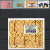 St Lucia 1981 - 1st Anniv Of UPU Membership - Set + Miniature Sheet SG606-MS610 MNH Cat £3.45 SG2015 - St.Lucie (1979-...)