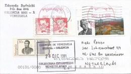 Venezuela Via USA 2001 Bolivar Double Franking Same Day Postal Store Cover - Venezuela